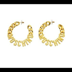 Moschino H&M gold logo hoops